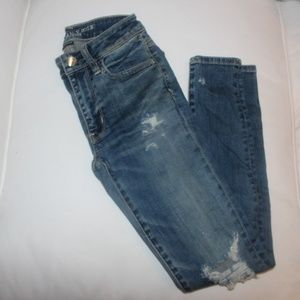 American Eagle Medium Wash Ripped Jeans
